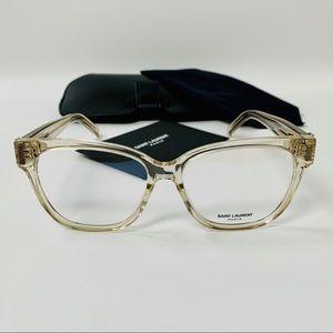 Saint Laurent Eyeglasses SL M33 007 Beige Clear